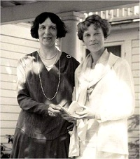 Clara Adams and Amelia Earheart