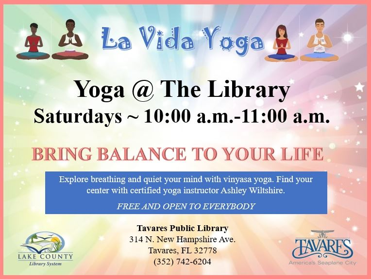 Image of Yoga at the Library Flyer