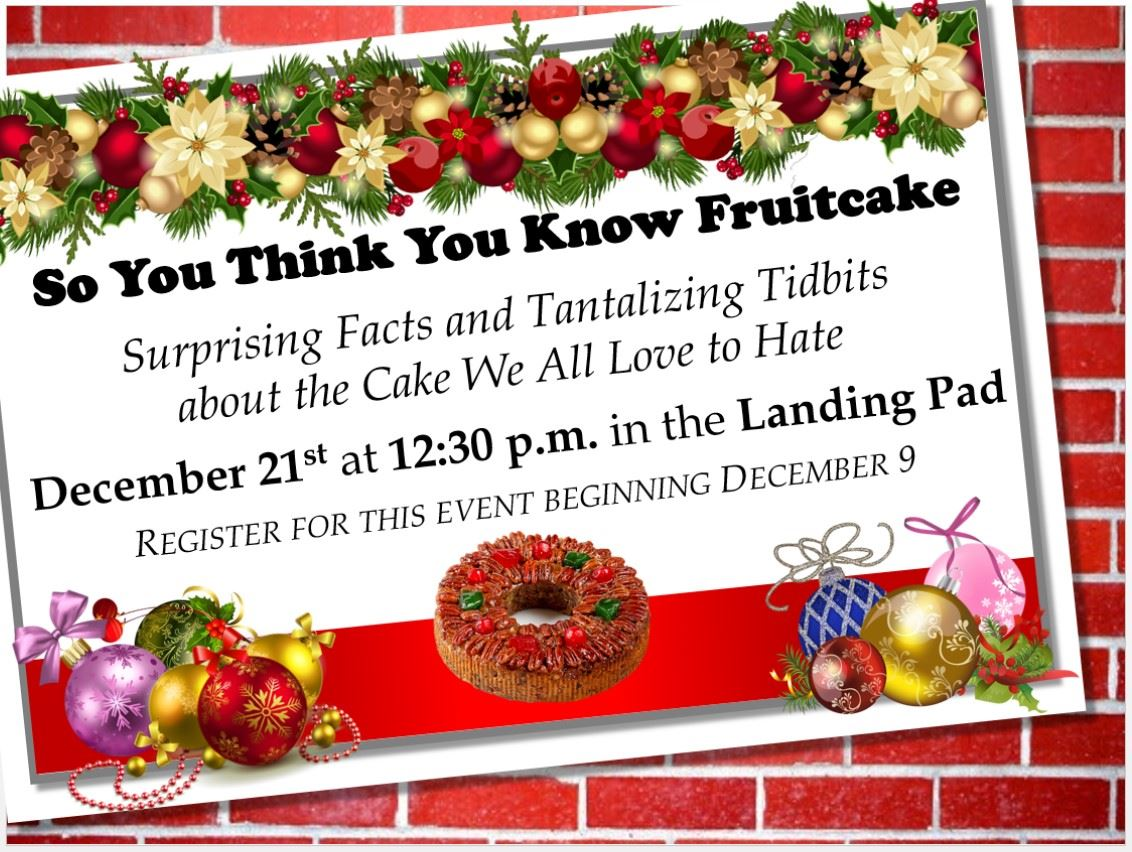 Image of So You Think You Know Fruitcake Flyer