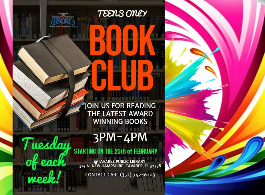 Image of Teen Book Club Flyer